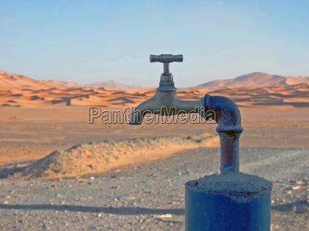 faucet in the desert