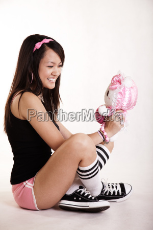young asian woman model