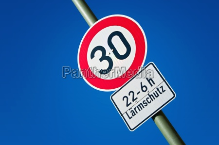 road sign 30 zone