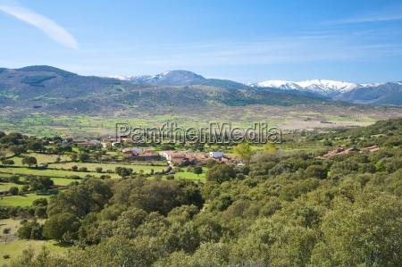 collado village at gredos mountains