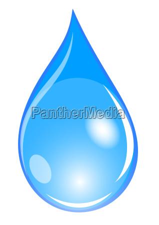 illustration blue water drop