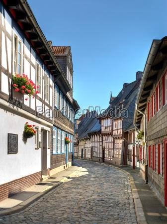 narrow alley in goslar