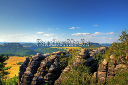 view over the elbe sandstone mountains