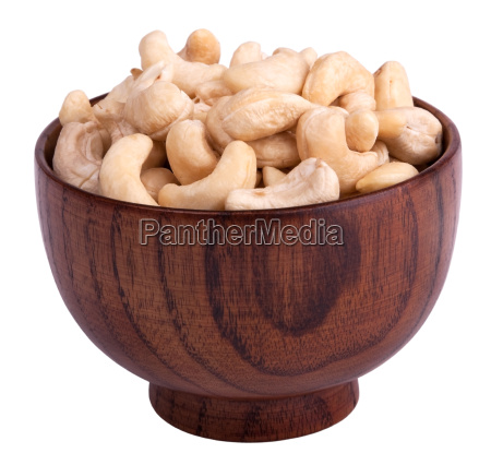 cashew, nuts, in, wooden, bowl - 2408015