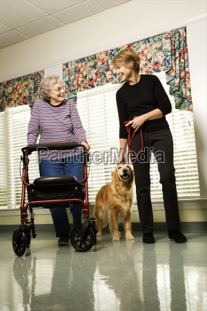 woman in assisted living