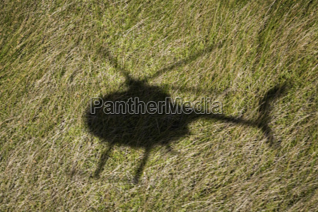 helicopter shadow on field