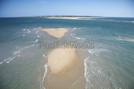 aerial of beach