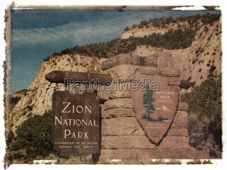 polaroid transfer zion park