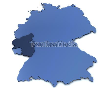 map of germany rheinland pfalz