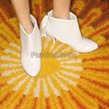 pair of female feet