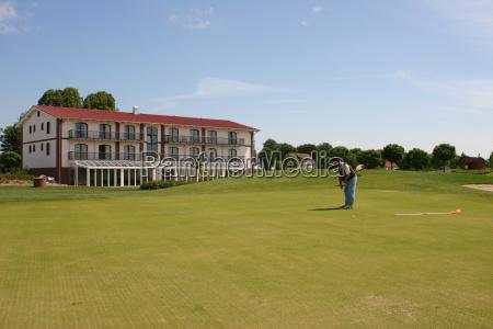 golfe campo de golfe bater levemente