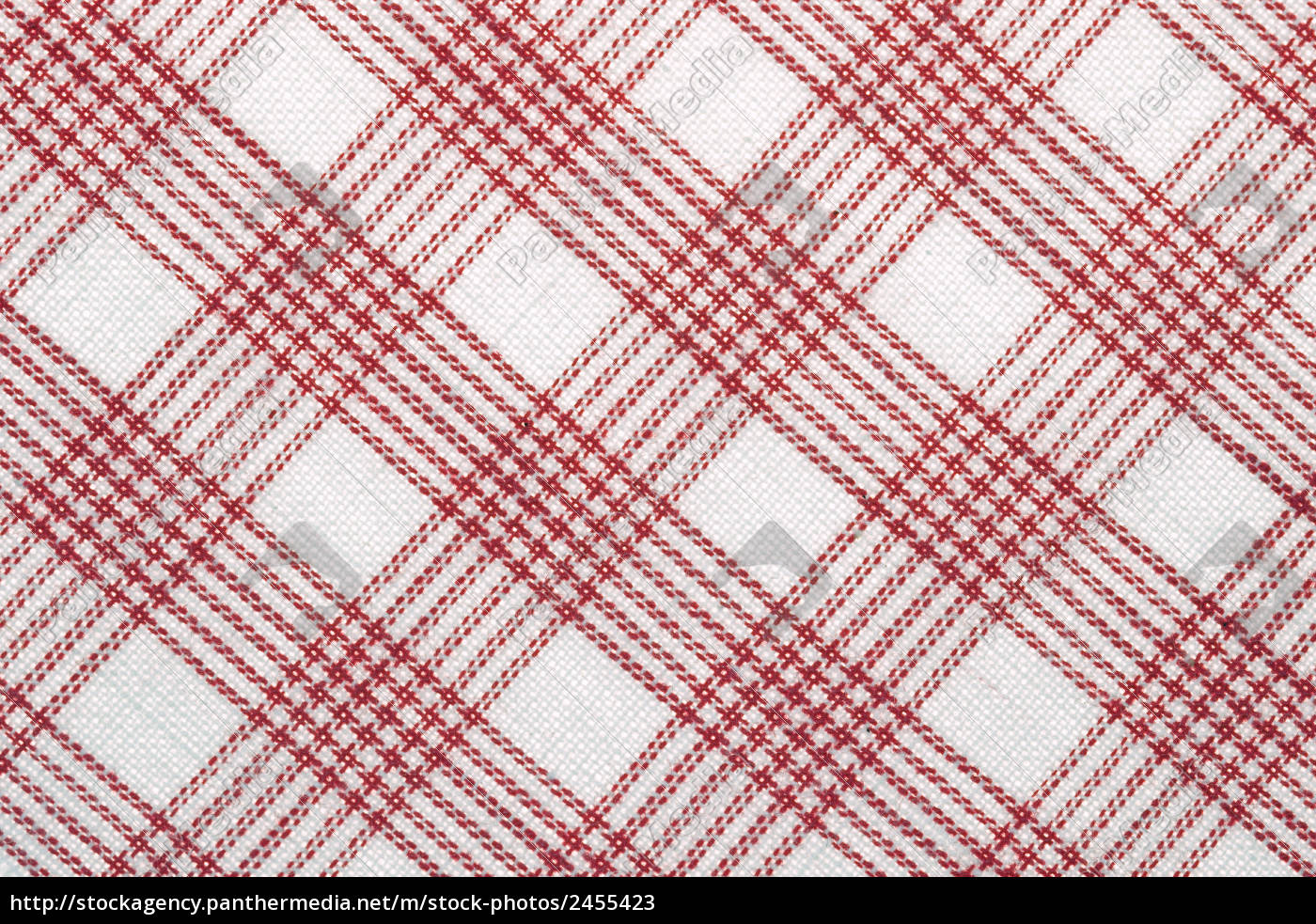 obliquely, checkered, fabric, in, red, and - 2455423