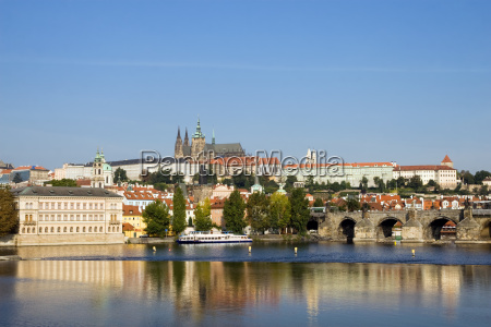prague castle in late afternoon
