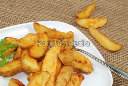 potato wedges on a plate