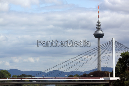 overlooking the mannheim tv tower