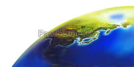 korean peninsula korea map formation graphic
