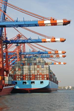 container terminal port of hamburg