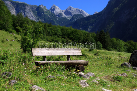 bank in the bavarian alps