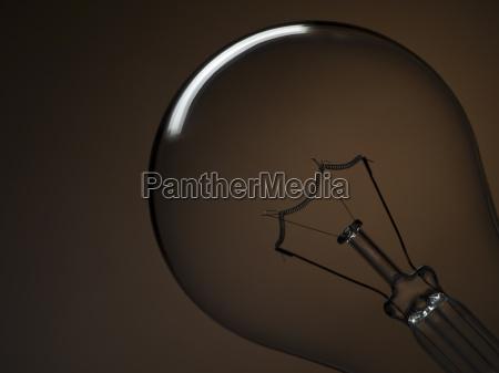 bulb light over brown