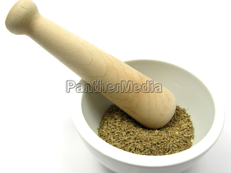 dried, fennel, in, porzelanschale, with, mortar - 2528185