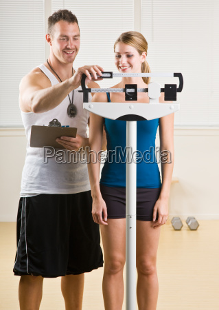 personal training weight woman in health