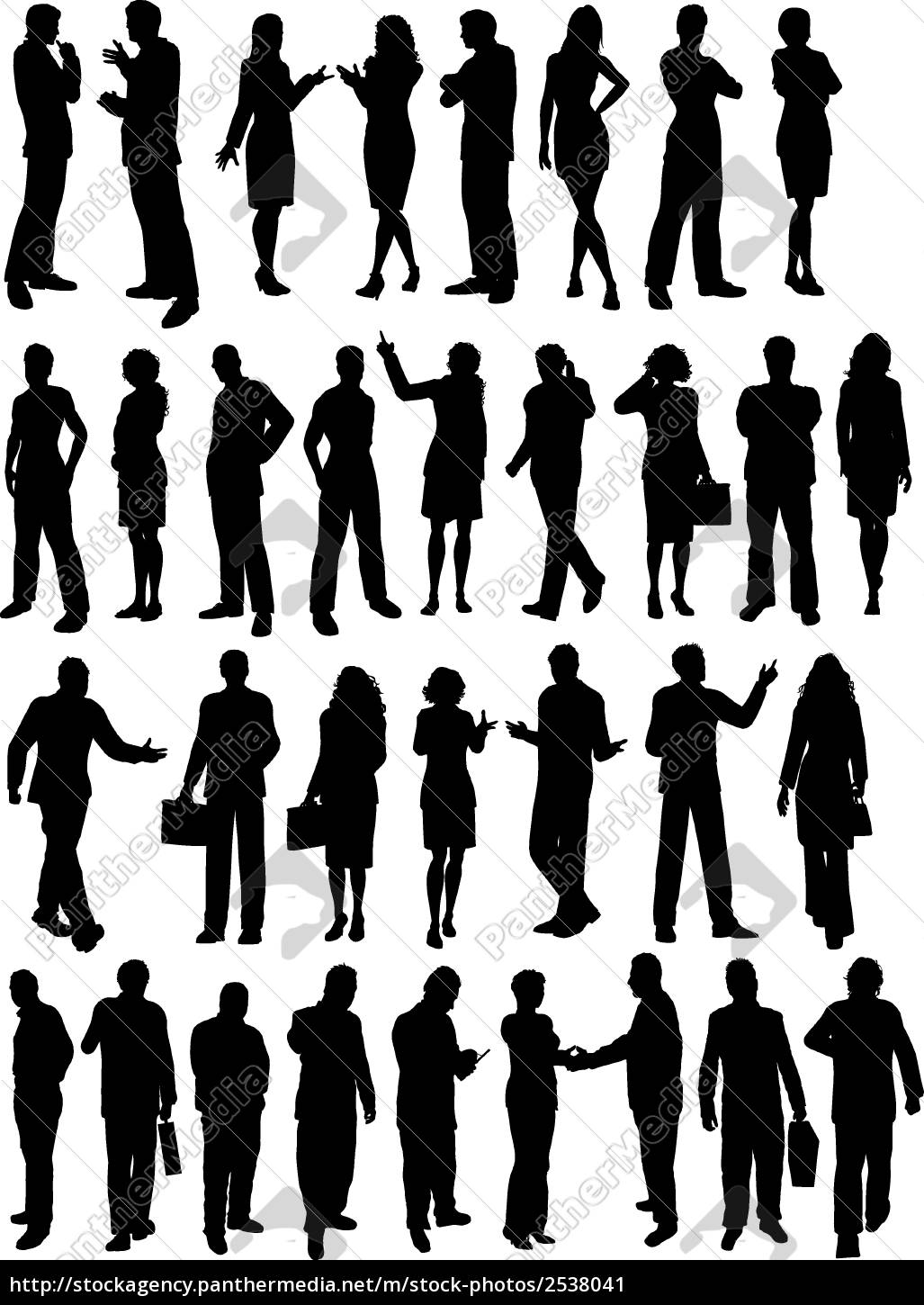 business, people, silhouettes - 2538041