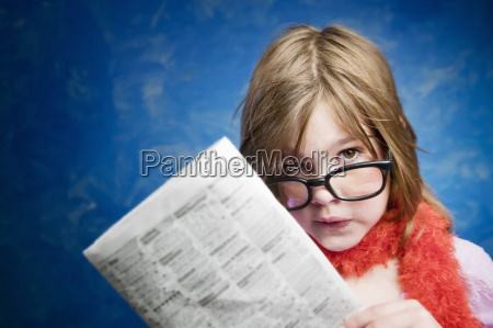 girl, with, glasses, and, a, newspaper - 2542287