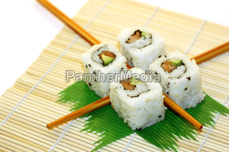 sushi, rolls, structured, over, white - 2543005