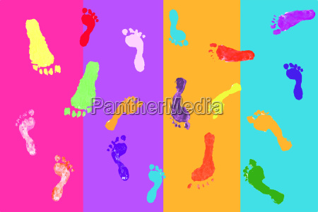 actual footprints made by children on