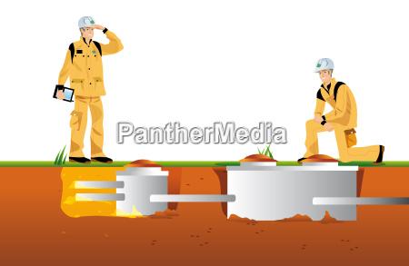 travaux et assainissement