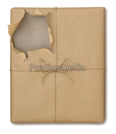 brown paper package opened