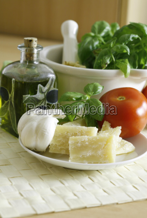 cheese basil ingredients garlic italian pesto
