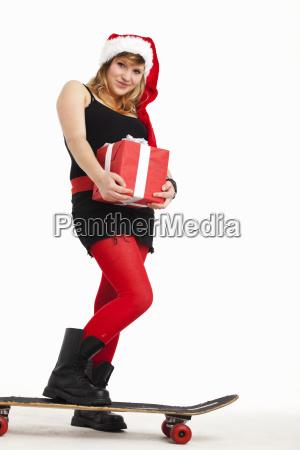 weihnachtliche punkerin