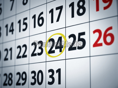 date on the 24th