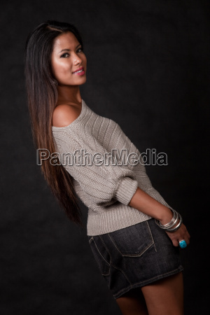 young attractive asian pacific islander woman