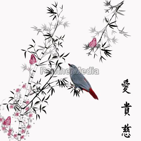 bamboo bamboo bird bird