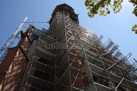 scaffolding at the st jacobi church