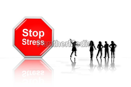 stop the stress people in silhouette