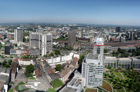 panorama of the city of essen