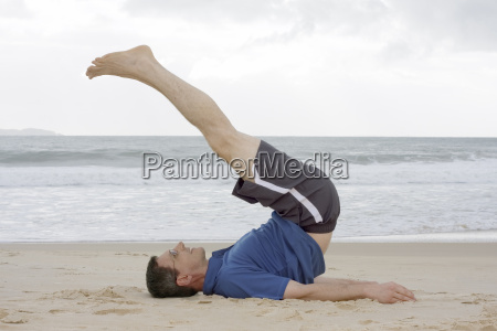 man doing fitness training on the