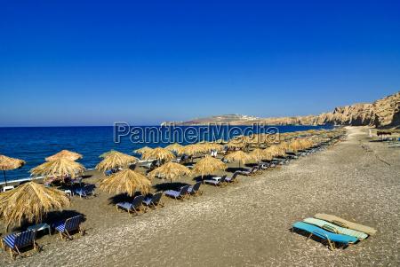 views from santorini kamari beach