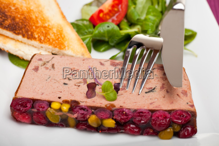 detail of a liver pate on