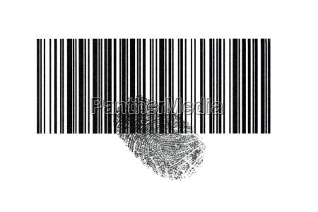 barcode with fingerprint