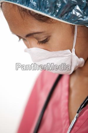 attractive thirties asian woman doctor nurse