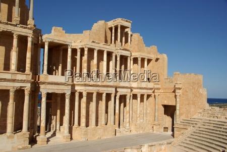 roman theatre in sabratha libya