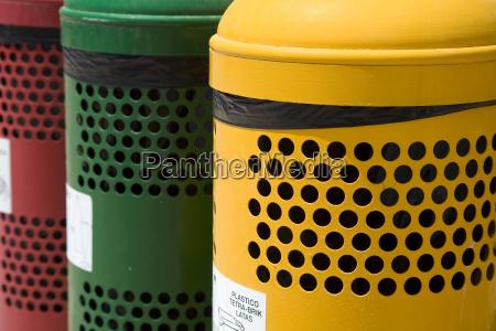 waste separation bins
