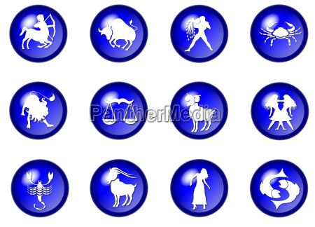 blue star sign buttons horoscope