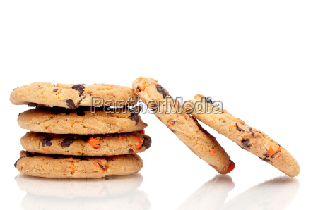 a vertical stack of chocolate chip