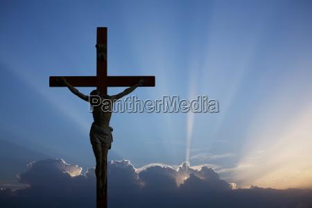 clouded sky crucifix