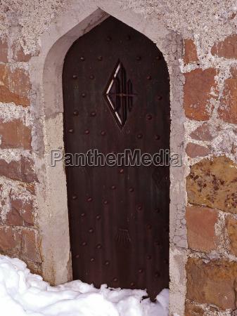 winter goal passage gate archgway gantry